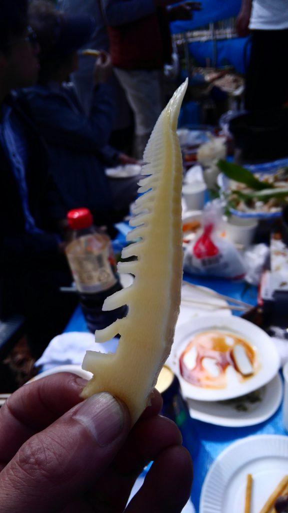 じゃーん!! 筍のお刺身! 美味しかったよ~♪